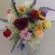 秋田テルサのレッスン作品はナチュラルな花束やバスケットなど